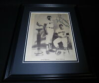 Brooks Robinson Signed Framed 11x14 Photo Display Orioles w/ Frank