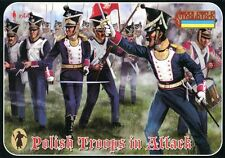 Strelets R STL-144 Napoleonic Polish Infantry In Attack 1/72