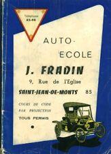 Livre ancien cours de code par projection tous permis éditions JC Bossard 1969