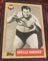 Gorilla Monsoon 2008 Topps Heritage III Chrome Card #81 WWF Legend