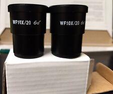 2pcs wf10x/20mm eyepiece lens high eyepoint ocular stereo microscope mount 30mm
