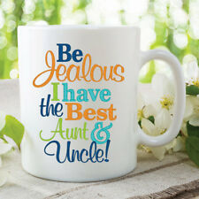 Novelty Funny Mugs Best Aunt Uncle Christmas Birthday Coffee Tea Cup WSDMUG382
