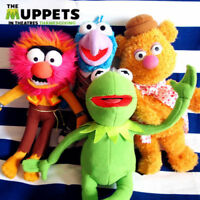 Disney The Muppets Kermit Frog & Gonzo & ANIMAL & Fozzie Bear Plush Toy Set of 4