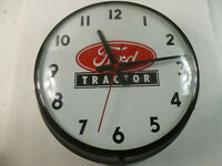 FORD Dealership TRACTOR SALES & SERVICE Vintage Clock Glass Lens Made in USA
