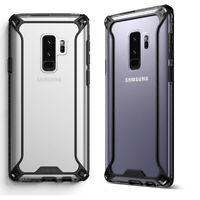 For Samsung Galaxy S9 Plus + Shockproof 360° Bumper TPU Cover Case Black