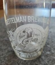 "A. Gettelman Brewing Co. Milwaukee ""With Greetings"" Pre-Pro Etched Beer Glass."
