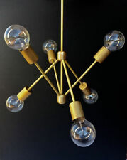6 Arms Mid Century Modern Brass Light Chandelier Fixture Sputnik Chandelier