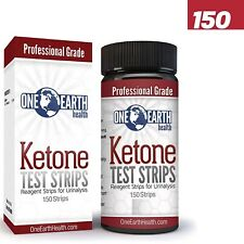 Ketone Test Strips by One Earth Health 150 strips for Urinalysis Factory Sealed