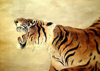 """perfect 36x24 oil painting handpainted on canvas """"tiger""""@NO3963"""