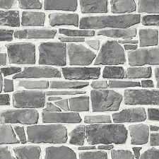 grau stein wand Tapete - Rasch 265620 - NEU ZIEGEL WAND Zimmerdekoration