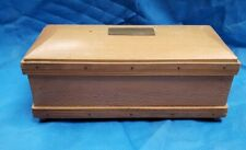 Vtg Wood Coffin Casket Liquor Whiskey Decanter Music Box Musical Herein Spirit