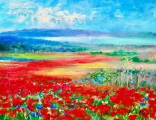 AskArt Listed Artist Nino Pippa Original Painting Provence Flowers Rhone Valley