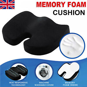 Memory Foam Wedge Car Seat/Chair Cushion Lower Base Posture Support Thick  Soft