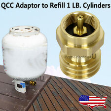 BBQ Grill Conversion Brass Adapter For Saver 1lb QCC Propane Bottle Tank Refill