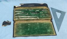 Vintage Dietzgen National Drawing Instruments Set w/ Case Drafting Equipment dq