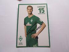 Sebastian Langkamp Werder Bremen  DFB SELTENE SATZKARTE  2017/18  17/18 NACHDRU