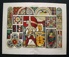 1893 ORIGINAL_Antica CROMOLITO:VETRATA Artistica I..