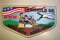 OA SEMINOLE LODGE 85 GULF RIDGE COUNCIL PATCH PIG SMY NOAC 2004 DELEGATE FLAP