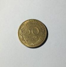 50 centimes LAGRIFFOUL 1963 col 4 plis Num8