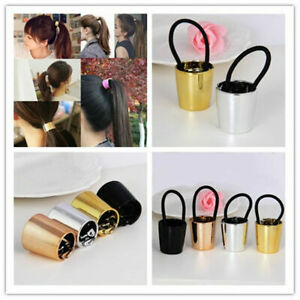Chic Metal Elastic Ponytail Holder Hair Cuff Wrap Tie Band Ring Rope Hairband S