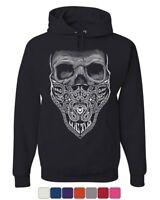 Bandana Skull Hoodie Badass Gangsta Swag Dead Sweatshirt