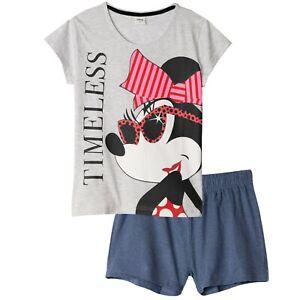 Disney Minnie Mouse T-Shirt Shorts Pyjamas pjs Set Womens Teenagers, size S UK