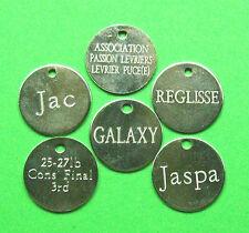 Médailles gravee Chien lot de 5 x 25mm médailles en nickel