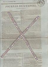 Journal de l'Empire du Dimanche 25 Janvier 1807. Imprimerie Le Normant.