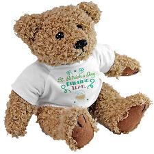 St Patricks Day Drinking Team Bear - Shamrock Irish Gift Teddy