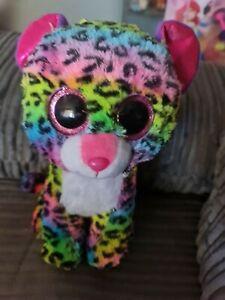 Ty Beanie Boo Boos  Dotty the Rainbow Leopard Medium 23cm