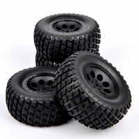 4Pcs 12mm Hex Tires Wheel Rim For RC 1:10 TRAXXAS SLASH HPI Short Course Truck