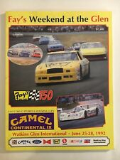 FAY'S WEEKEND AT THE GLEN - FAY'S 150  PROGRAM - JUNE 25 - 28, 1992