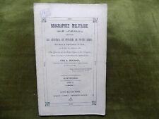 BIOGRAPHIE MILITAIRE DU JURA T. 2 Officiers J. Rocard République 1er Empire