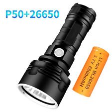 Super Bright 10000LM P50 LED Flashlight Rechargeable Zoom Torch 26650 3 Modes
