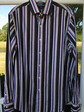 Polo Ralph Lauren Long Sleeve Striped Regent Custom Fit Casual Shirt 15 1/2 Med.