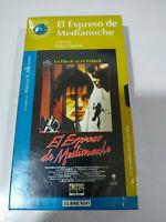 El Expreso de Medianoche Alan Parker - VHS Cinta Español Nueva
