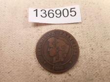 1896 A France 5 Centimes - Nice Collector Grade Album Coin - # 136905