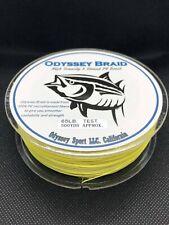 ODYSSEY BRAID PREMIUM FISHING LINE YELLOW 40LB 500YD SPOOL