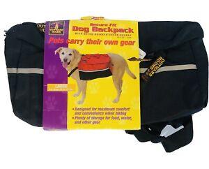 Outward Hound Dog Travel Camping Hiking Backpack Saddle  Reflective Large Dog