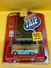 Johnny Lightning Road Trip USA 1959 Desoto Police Car - Light Blue/White