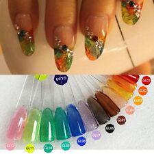 12 Colors 3G Che Translucent Crystal Colors UV LED Soak Off Nail Art Gels Set