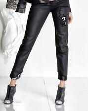 Normalgröße-Damenhosen aus Baumwolle mit geradem Bein