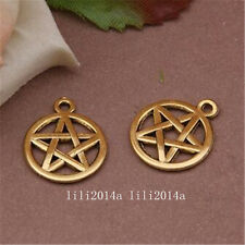12pc Tibetan Gold pentagram Charm Beads Pendant wholesale    PL1024