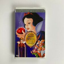 Disney's Snow White And The Seven Dwarfs (VHS, Platinum Edition)