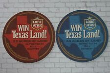 Beer Breweriana Coaster ~ Pabst Brewing LONE STAR Light ~ Win 5.2 Acres of Texas