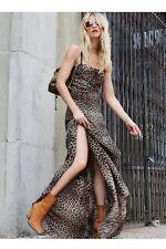 Free People Silken Leopard Casual Maxi- XS