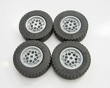 4 X NEW LEGO TECHNIC USEFUL PARTS LARGE WHEELS FROM SET 42009 CRANE w2439ck