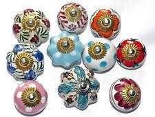 Cerámica Porcelana Pomos Puerta 10 Tipos Cristal de Y Muebles Tiradores
