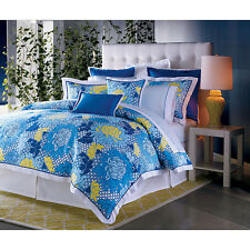 TOMMY HILFIGER POOLSIDE FLORAL TWIN COMFORTER PILLOW SHAM 2PC SET BLUE POOL SIDE