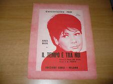 SPARTITO MUSICALE IL TEMPO E' TRA NOI RENATA MAURO TONY DE VITA A.TESTA ED.CURCI